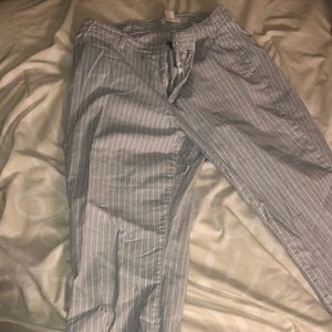 H&M Blue and White Pinstripe Pants